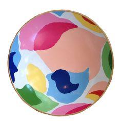 Dana Gibson Hand Painted Modern Art Bowl #dana-gibson #dana-gibson-pillows #home-decor-pillows-throws
