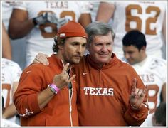 Matthew McConaughey and Mack Brown