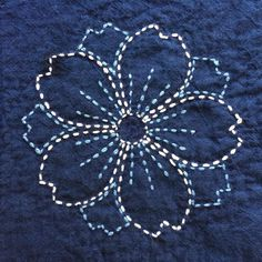I've been slowly working on my sashiko sampler over the past year... and have finally finished... or so I think for now (I may want to ...