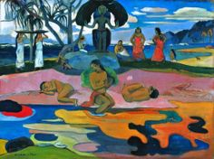 Paul Gauguin - Day of the God (Mahana no Atua), 1894. Oil on canvas, 68.3 x 91.5 cm. Art Institute of Chicago, IL,