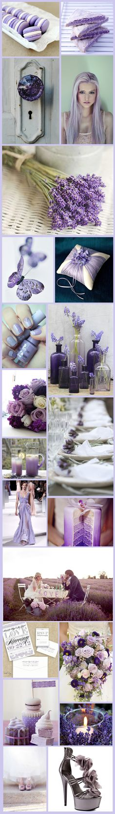 Lavender Love Inspiration Board. Loving the colours and the boquets. I don't like a lavender smell though...