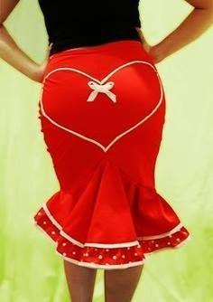 Spicca il cuore sulla gonna da pin-up per #sanvalentino! #bemyvalentine