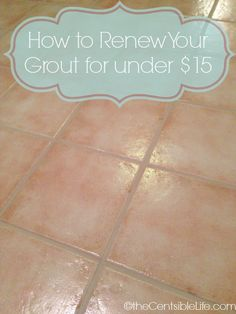 Grout Makeover with Grout Renew.  For only $15 I can redo all my floors.  totally going to do this. We have so much tile floor in our house
