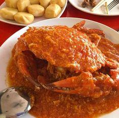 Shellfish Recipes, Crab Recipes, Lunch Recipes, Asian Recipes, Cooking Recipes, Singapore Chili Crab Recipe, Chilli Crab Recipe, Asian Street Food, Singapore Food