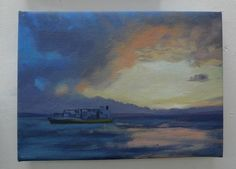 View from Southsea Oil on canvas