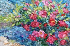Buy Pink little flowers - oil painting, Oil painting by Lia Aminov on Artfinder. Discover thousands of other original paintings, prints, sculptures and photography from independent artists.
