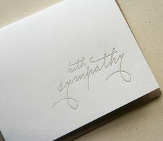'with sympathy' card