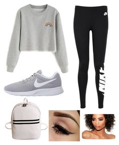 """Foggy Outside ☁️"" by kyra-leee on Polyvore featuring NIKE"