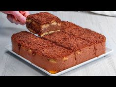 Nu am pornit cuptorul, dar am preparat cel mai gustos tort din piscoturi. Convinge-te singur! - YouTube Romanian Desserts, Chocolate Pudding Cake, Brownie, No Cook Desserts, Cookies Et Biscuits, Four, Banana Bread, Sweet Treats, Food And Drink