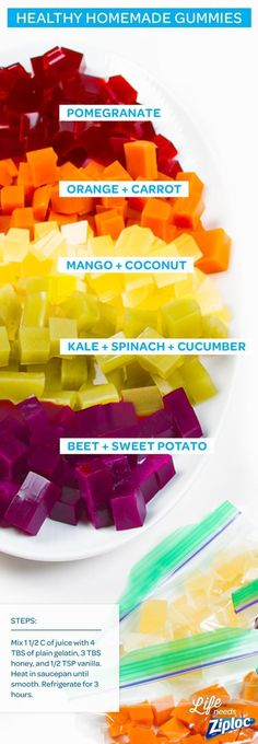 These DIY fruit and veggie gummies are so much healthier than what you'll find…