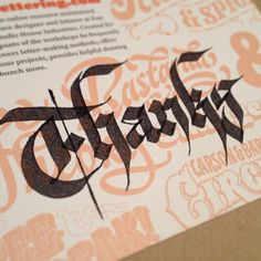 More fun w/ Parallel Pens on thank you notes for recent letterpress print orders