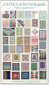 Quilt Inspiration: Free pattern day: Lattice and Woven quilts Easy Quilt Patterns Free, Bed Quilt Patterns, Jelly Roll Quilt Patterns, Free Pattern, Skirt Patterns, Blouse Patterns, Sewing Patterns, Quilting Projects, Quilting Designs
