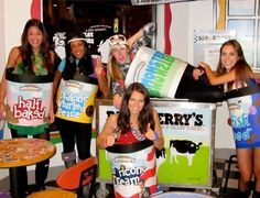 Paint your favorite ice cream flavor on to cardboard to be ice cream pints. | 26 Halloween Costumes For Anyone Obsessed With Food