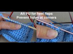 Tips & Tricks for Sock Heel Flaps - YouTube