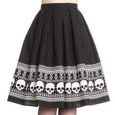Hell Bunny Clara Skulls 50's Skirt