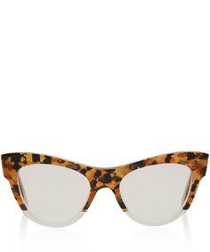 Miu Miu Brown Camouflage Cat Eye Glasses | Eyewear by Miu Miu | Liberty.co.uk
