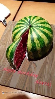 Cool Watermelon Cake... Coolest Cake Ideas