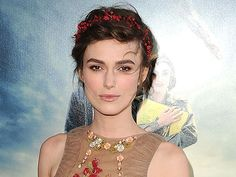 Keira Knightley has darling red berries woven together as a headband.