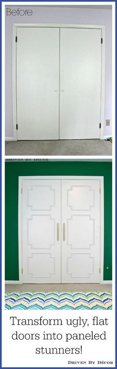 Such a huge difference in the look of these doors that are part of a tween bedroom makeover