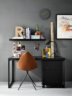 Design your own home office space with desks from BoConcept. Contemporary desks give you a productive workspace. Bureau Design, Boconcept, Desk Inspiration, Interior Inspiration, Office Furniture, Furniture Decor, Internal Design, Organizing Your Home, Simple House