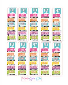 This listing is for 5 Fly Lady Cleaning Zone Sidebar Stickers designed to fit the Erin Condren Life Planner and the Happy Planner. These stickers
