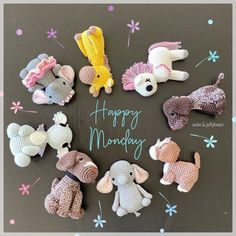 "Aidie & Jellybean on Instagram: ""Happy Monday everyone🌸 A group shot of the happy gang before they head on their way🎁 Wishing you a great week ahead🥰 #aidieandjellybean…"" Group Shots, Great Week, Toy Sale, Jelly Beans, Happy Monday, Wish, Crochet Patterns, Christmas Ornaments, Holiday Decor"