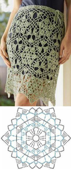 Bom dia fiorellini, tudo bem com vocês ??  olhe que linda essas saia de crochê, já imaginei uma uma saída de banho com esse punto.      via...