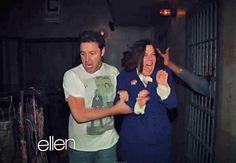 "Ellen sends Staff through ""Walking Dead"" Haunted House - Small Home Big Start"