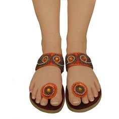 Paduka Sandals, Unique Circle Toe Post Shoes, $24.99 on eBay and Amazon with FREE shipping!