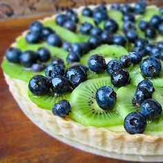 kiwi and blueberry cream cheese cake  -not too sure how actually healthy it is, but im sure it can be made healthy!
