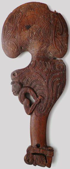 19th Century Maori hand club wahaika