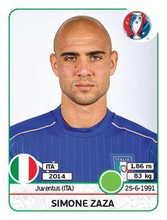 Simone Zaza Italy - Euro 2016 #Panini #Euro2016 #stickers #Italy