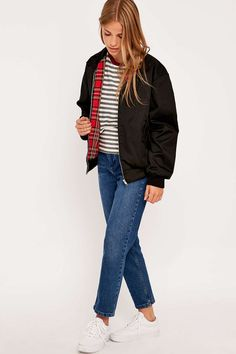 Urban Renewal Vintage Surplus – Harrington-Jacke in Schwarz