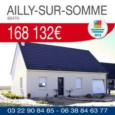 #ResidencesPicardes vous propose ce pavillon avec garage à AILLY-SUR-SOMME (80470) pour 168 132€*. Renseignements par téléphone au 03.22.90.84.85 ou 06.38.84.63.77