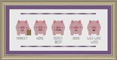 This+little+piggy+funny+pig+crossstitch+by+nerdylittlestitcher,+$3.00