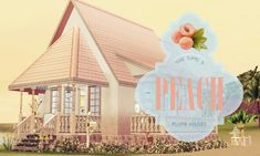 Peach home by Plumb Houses - Sims 3 Downloads CC Caboodle so simple! So sweet!