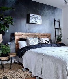 Blue Bedroom Ideas - Set light blue walls with a bright silver declaration piece. Master Bedroom Design, Bedroom Inspo, Dream Bedroom, Bedroom Wall, Bedroom Decor, Light Blue Walls, Beautiful Bedrooms, New Room, Interior Design