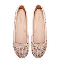 """Marcha Ballerina """"Peanuts"""" feature a beige hue of chanel textile upper, printed lining and a nude polyurethane insole. Ensure you add these to your shoe collection for the colder months. Peanuts, Ballerina Flats, Cute Woman, Shoe Collection, Your Shoes, Chanel, Beige, Lady, Women"""