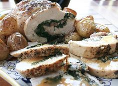 Italian Food Forever » Spinach And Prosciutto Stuffed Turkey Breast