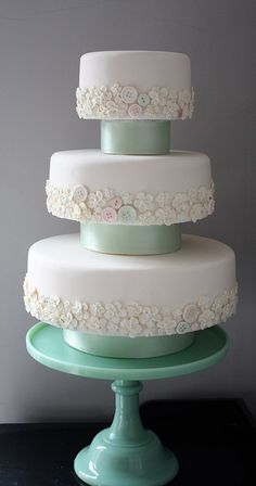 Vintage Buttons wedding cake by cakebysugar, via Flickr