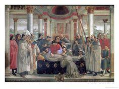 The Death of St. Francis, scene from a cycle of the Life of St. Francis of Assisi, 1486 (fresco), Ghirlandaio, Domenico (Domenico Bigordi) (1449-94) / Sassetti Chapel, Santa Trinita, Florence, Italy / The Bridgeman Art Library