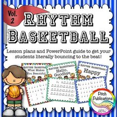 This set is AWESOME! Great lesson plans and the cross-curricular connections are amazing.  Kids are literally bouncing basketballs to rhythms to popular songs and old classics.  Must. Get. Now!