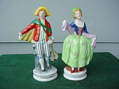 I have a small collection of Occupied Japan and pre-war German Georgian-style figurines, most from childhood.