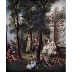 The Swing Nicolas Lancret (1690-1743 French) Canvas Art - Nicolas Lancret (18 x 24)