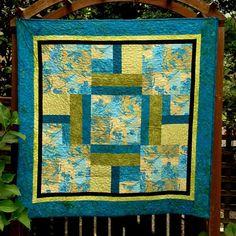 Bird Quilt Blue & Green Wall Hanging Quilts by DesignerDahliasEtc, $210.00