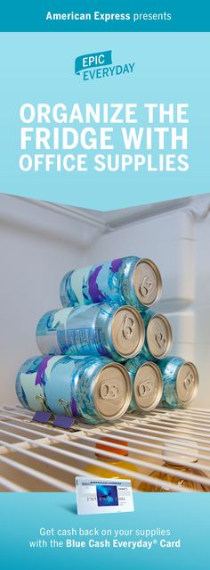 Save your refrigerator from an epic disaster. We teamed with Buzzfeed to show you Fridge Organization Tips! These hack ideas will have you bringing office supplies, like binders clips and washi tape, into the kitchen. See how a few small changes can help you save space and declutter. Shop for the DIY materials and get cash back on purchases with the Blue Cash Everyday Card from American Express. Terms apply. Learn more at americanexpress.com/epiceveryday. Click the pin to watch how to make…