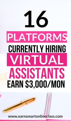 Want to become a virtual assistant? Here's a list of virtual assistant jobs perfect even for beginners! Earn by taking virtual assistant jobs from home now! Work From Home Companies, Work From Home Jobs, Companies Hiring, Virtual Assistant Services, Marketing Program, Earn Money Online, Online Work, How To Make Money, Platforms