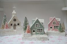 / glitter houses by cherished vintage /