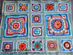"""Zooty Owl- I have just added 20 new members to """"Seaside Winter Blanket CAL"""" Group and it has now grown to over 400! Later today I will post the link to Square 2: Scottburgh. The new pattern will include the border rows which are to be added to all of your squares. Please read through my introduction post if you have not already done so, as this contains important layout information: http://zootyowlcards.blogspot.co.za/2016/06/seaside-winter-blanket-cal-introdu"""