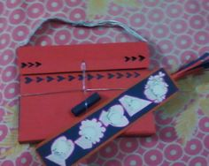 a bookmark & a sweet little bag for the card that i made..:)
